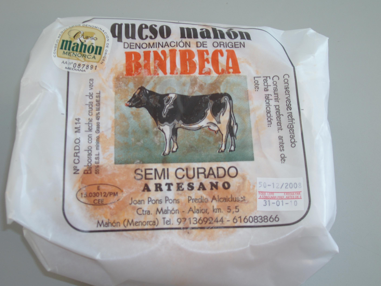 Queso Mahon BINIBECA