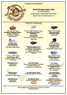 Galardones World Cheese Awards 2009